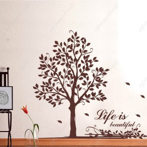 Custom PopDecals - Life tree with words - Beautiful Tree Wall Decals for Kids Rooms Teen Girls Boys Wallpaper Murals Sticker Wall Stickers Nursery Decor Nursery Decals - PopDecors,Home, PopDecals, PopDecors