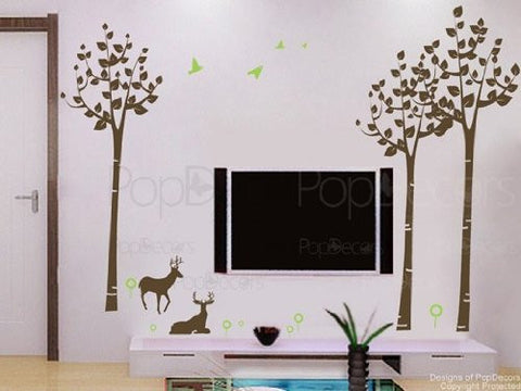 Forest and Deer-Wall Deacal - PopDecors,Baby Product, Pop Decors, PopDecors