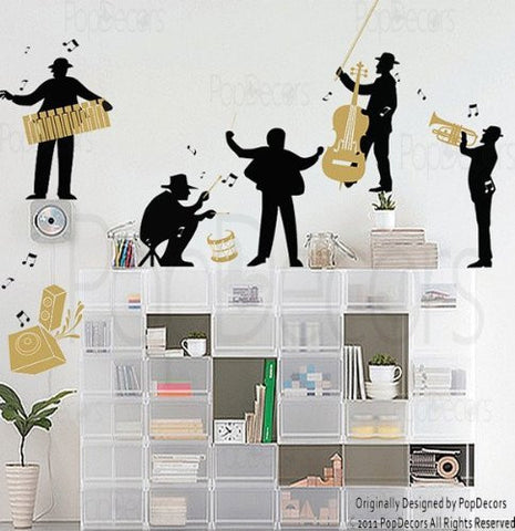 PopDecors - Music in My Happy Life - Custom Beautiful Tree Wall Decals for Kids Rooms Teen Girls Boys Wallpaper Murals Sticker Wall Stickers Nursery Decor Nursery Decals