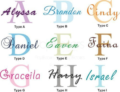 PopDecors Wall Decals & Stickers - Personalized Name Decal - Free Squeegee and Color Change -Baby Nursery Monogram Wall Decal Art - PopDecors,Baby Product, Pop Decors, PopDecors