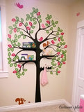 Shelving Tree Decal with Squirrels-Wall Decal - PopDecors,Baby Product, Pop Decors, PopDecors