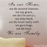 We are Family-Quote Decal - PopDecors,Baby Product, Pop Decors, PopDecors
