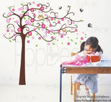 Cute Flower Tree with Cute Owl-Wall Decal - PopDecors,Baby Product, Pop Decors, PopDecors