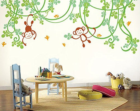 Playing Monkeys-Wall Decal - PopDecors,Baby Product, Pop Decors, PopDecors