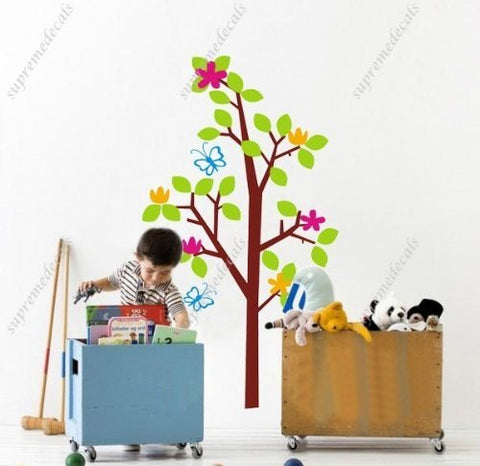 Custom PopDecals - lucky tree - 59 in high - Beautiful Tree Wall Decals for Kids Rooms Teen Girls Boys Wallpaper Murals Sticker Wall Stickers Nursery Decor Nursery Decals - PopDecors,Home, PopDecals, PopDecors