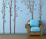 Forest with Flying Birds - Beautiful Tree Wall Decals for Kids Rooms Teen Girls Boys Wallpaper Murals Sticker Wall Stickers Nursery Decor Nursery Decals - PopDecors,Baby Product, PopDecals, PopDecors