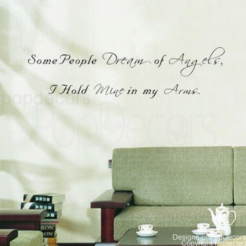 Some People Dream of Angels-Quote Decal