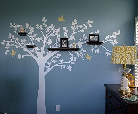 "Big tree with love birds 100"" W Tree Decals - PopDecors,Baby Product, Pop Decors, PopDecors"