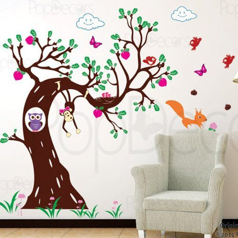 Woodland in the Morning for Girl's-Wall Decal - PopDecors,Baby Product, Pop Decors, PopDecors