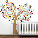 Colorful Heart Tree with Lovely Owls-Wall Decal - PopDecors,Baby Product, Pop Decors, PopDecors