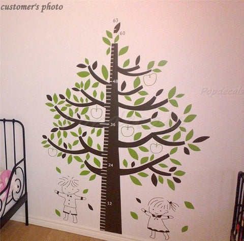 Custom PopDecals - Tree for height measuring - Beautiful Tree Wall Decals for Kids Rooms Teen Girls Boys Wallpaper Murals Sticker Wall Stickers Nursery Decor Nursery Decals - PopDecors,Home, PopDecals, PopDecors