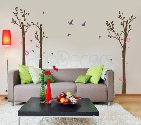 Trees and Flowers(Big Size)-Wall Decal
