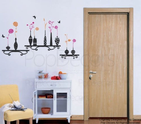 Flowers and Vases Wall Decal - PopDecors,Baby Product, Pop Decors, PopDecors