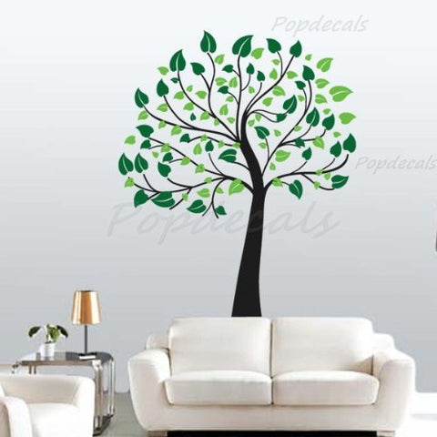 Happy Tree - Beautiful Tree Wall Decals for Kids Rooms Teen Girls Boys Wallpaper Murals Sticker Wall Stickers Nursery Decor Nursery Decals - PopDecors,Home, PopDecals, PopDecors