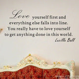 Love Yourself First-Quote Decal