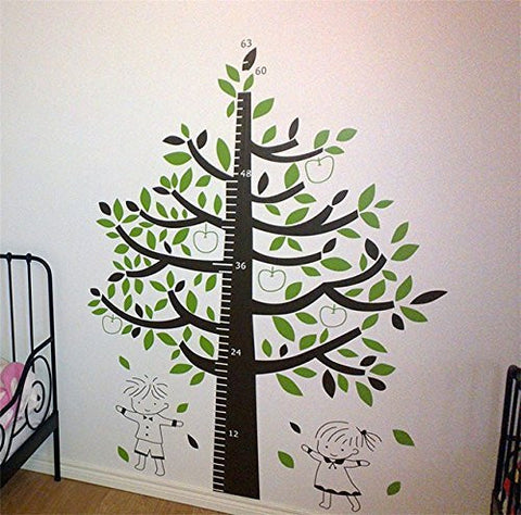 Tree for height measuring - Beautiful Tree Wall Decals for Kids Rooms Teen Girls Boys Wallpaper Murals Sticker Wall Stickers Nursery Decor Nursery Decals