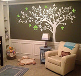"Big tree with love birds 100"" W Tree Decals"