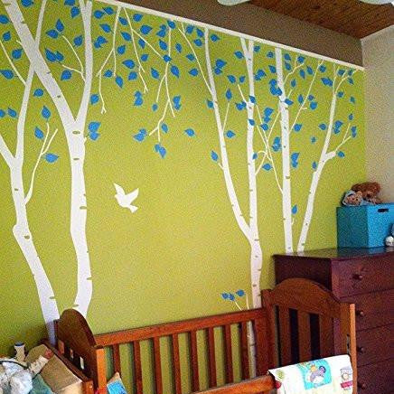 Birch trees in the nature garden 2 -Wall Decals- PDA-0526 - PopDecors,Baby Product, PopDecals, PopDecors