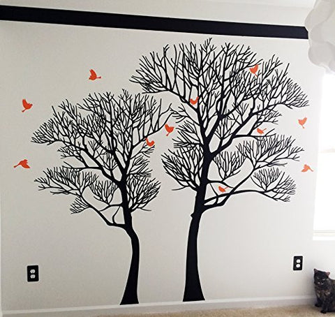PopDecors Wall Decals U0026 Stickers   Nature Twin Tree  Tree Wall Decals Office  Natre Tree
