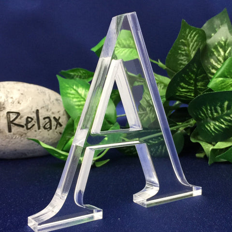 "Free Standing 4""H, 1/2"" Thick Acrylic Letters With Your Own Text"