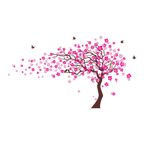... Cherry Blossom Tree Wall Decal - PopDecorsBaby Product Pop Decors PopDecors ...  sc 1 st  Pop Decors & Red Color Cherry Blossom Tree Wall Decal - Pop Decors