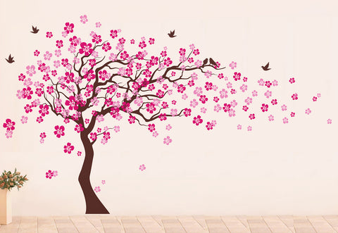 Cherry Blossom Tree Wall Decal - PopDecorsBaby Product Pop Decors PopDecors  sc 1 st  Pop Decors & Red Color Cherry Blossom Tree Wall Decal - Pop Decors