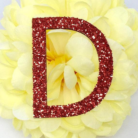 "8"" H Custom Wood Glitter Letters - PopDecors,, PopDecors, PopDecors"
