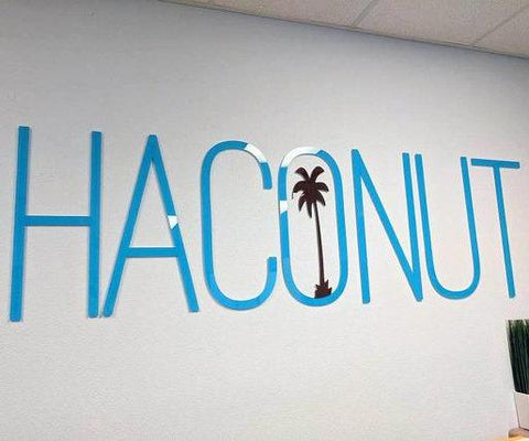 "24""H 3D Plexiglass Acrylic Letters With Your Own Text - PopDecors,, PopDecors, PopDecors"