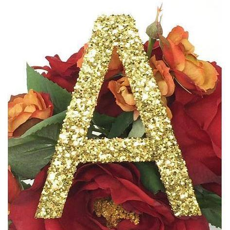 "4"" H Custom Wood Glitter Letters - PopDecors,, PopDecors, PopDecors"