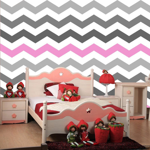 ZigZag Self-adhesive Fabric Chevron Wallpaper -prt0023-d