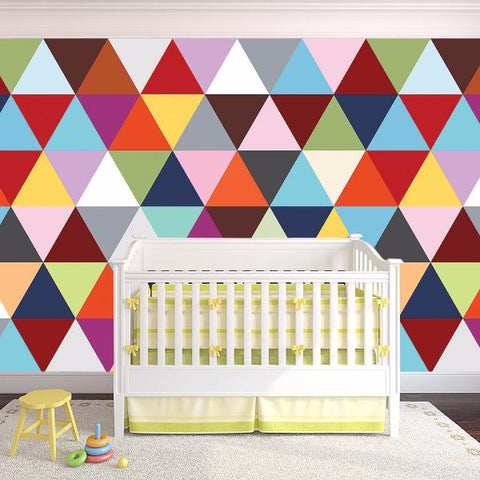 Triangle Wall Mural- Custom Colors Wallpaper- prt0053