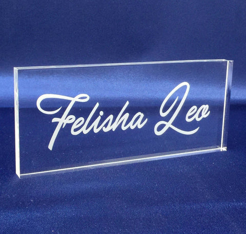 "Laser Engraving Name- 1/2"" Thick Clear Plexiglass,Personalized"