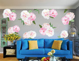 Watercolor Peony Flowers Fabric Wall Sticker prt0091