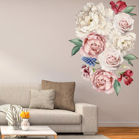 Peony Flowers Vinyl Wall Sticker prt0112-1