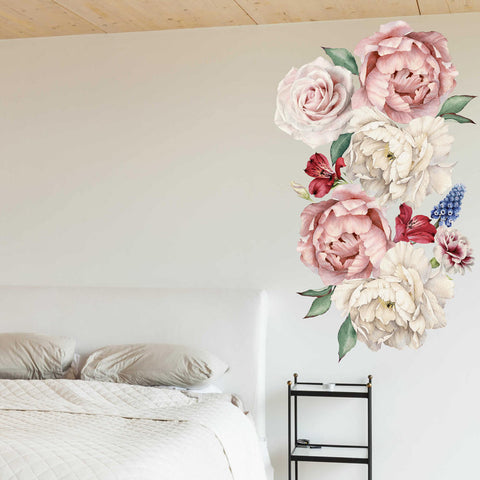 Peony Flowers 2 Vinyl Wall Sticker prt0112-1
