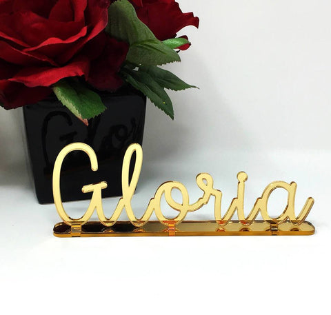 "5"" H Self-standing Custom Acrylic Name - PopDecors,, PopDecors, PopDecors"