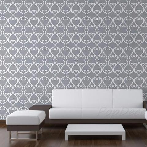 Seamless Allover Patter- Floral Wall Murals Custom Colors prt0031