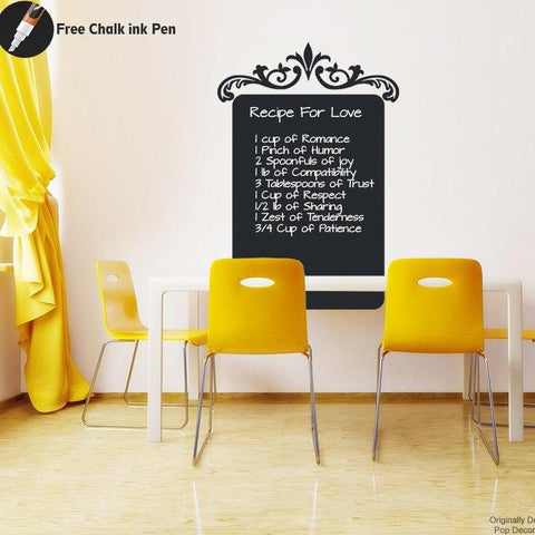 Chalkboard-Kitchen Recipe- Wall Decal - PopDecors,, PopDecors, PopDecors