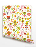 Carton Floral- Kids Playroom Peel and Stick Wallpaper prt0040 - PopDecors,, PopDecors, PopDecors