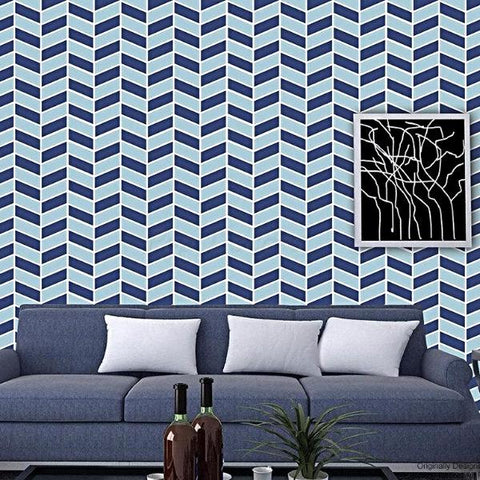 Herringbone Allover Wallpaper- Fabric Wall Covering - prt0048