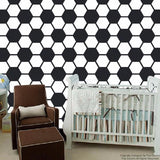 Soccer Ball Wallpaper- Baby Boy Nursery Wall Art prt0050
