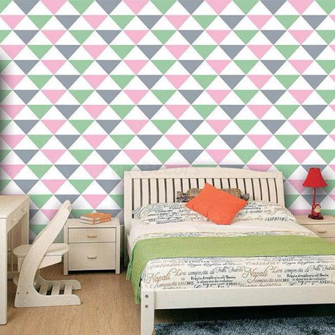 Seamless Triangle Wallpaper-Custom Colors prt0060
