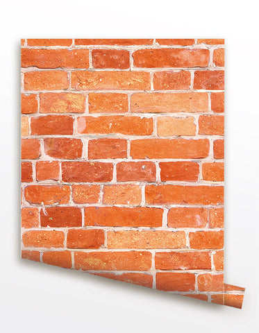Red Brick Seamless Wallpaper- Wall Covering prt0064