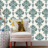 Seamless Damask Wallpaper Fabric- Damask 02 -prt0068