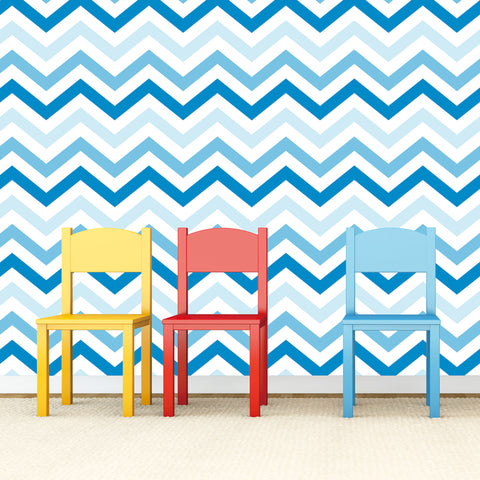 ZigZag Self-adhesive Fabric Chevron Wallpaper -prt0023-e