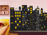 Dark City- Peel & Stick Fabric Wall Murals - prt0035