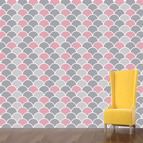 Round Allover Wallpaer - DIY Wall Decors -prt0046