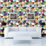 Colorful Triangles- Kids Playroom Wall Covering -prt0053 - PopDecors,, PopDecors, PopDecors