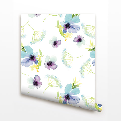 Dandelion Flowers Seamless- Floral Wall Covering prt0093