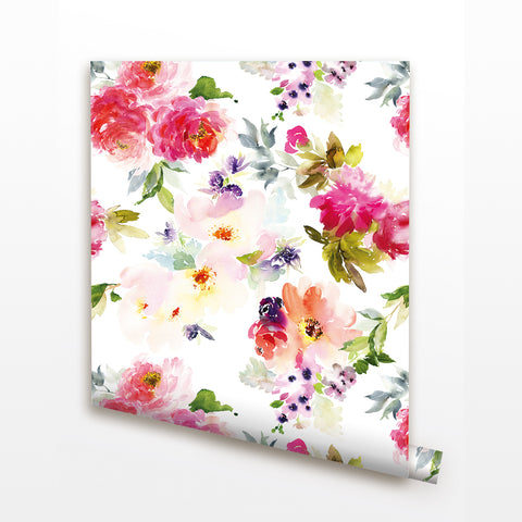 Blooming Flowers 2 Seamless Wall Paper-Peel and Stick prt0095